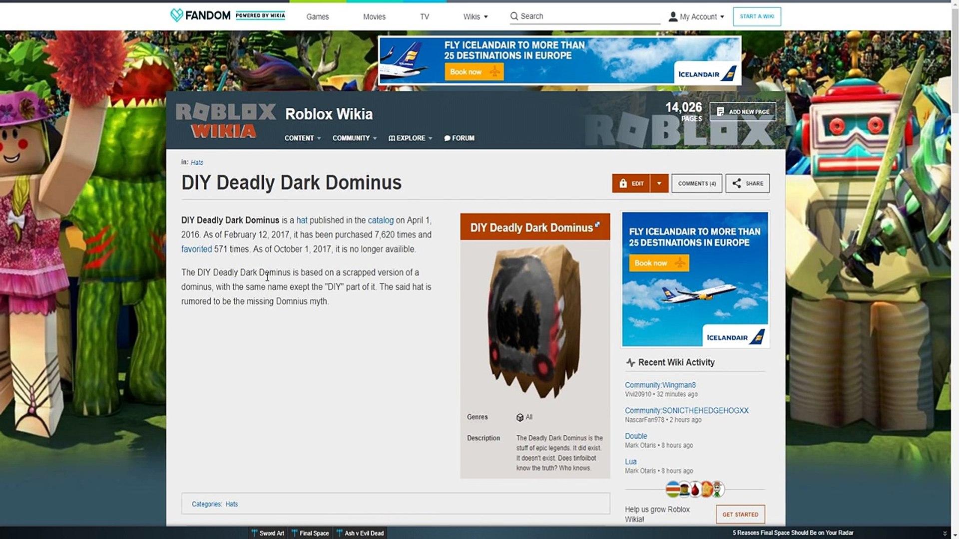 THE LOST DOMINUS OF ROBLOX   (Roblox Creepypasta)