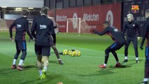 Coutinho First Training With Messi, Suarez, Dembele and new team-mates