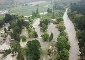 Flooding in New Zealand's Esk Valley Captured From the Air