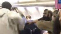 Fists flying on a Southwest Airlines flight to LA - TomoNews