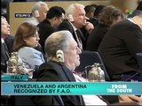 FAO Recognizes Venezuela and Argentina for Reducing Hunger and Poverty