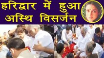 Sridevi: Boney Kapoor IMMERSES Sridevi's ashes at Haridwar; Watch video | FilmiBeat