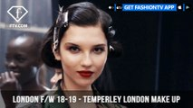 London Fashion Week Fall/Winter 18-19 - Temperley London Make Up   FashionTV   FTV