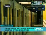 Argentine transportation workers walk out in general strike