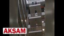 İstanbul Adalet Sarayı�nda intihar girişimi son anda böyle önlendi