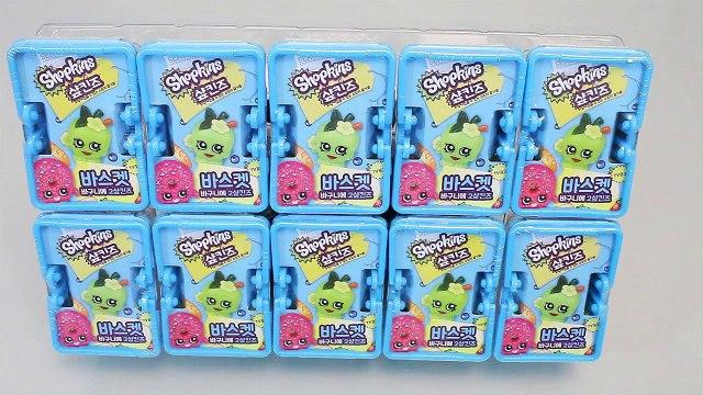 Shopkins Blind Baskets Toys 샾킨즈 바구니 랜덤 캐릭터와 뽀로로 타요 폴리 장난감