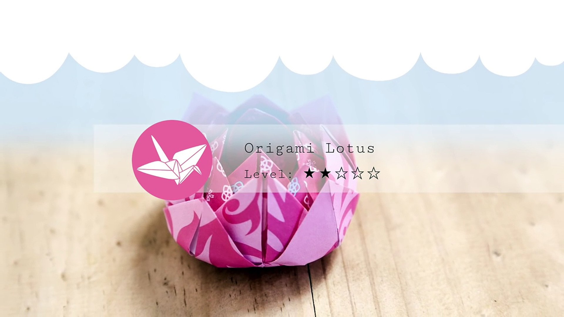 Incredible Origami Lotus Flower - Instructions & Video Tutorial | 1080x1920
