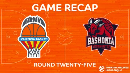 EuroLeague 2017-18 Highlights Regular Season Round 25 video: Valencia 71-81 Baskonia