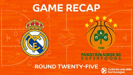 EuroLeague 2017-18 Highlights Regular Season Round 25 video: Madrid 92-75 Panathinaikos