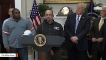 'Oh, He's Still Alive': Steelworker Tells Trump After Remark About His Father 'Looking Down' On Him