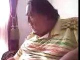 Fat Grandpa getting scared lol