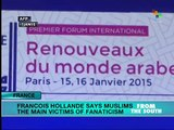 France: Hollande says Muslims main victims of fanaticism