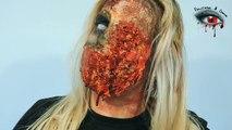Maquillaje de Zombie Cara Explotada / Gore #15 / The Walking Dead Makeup Tutorial