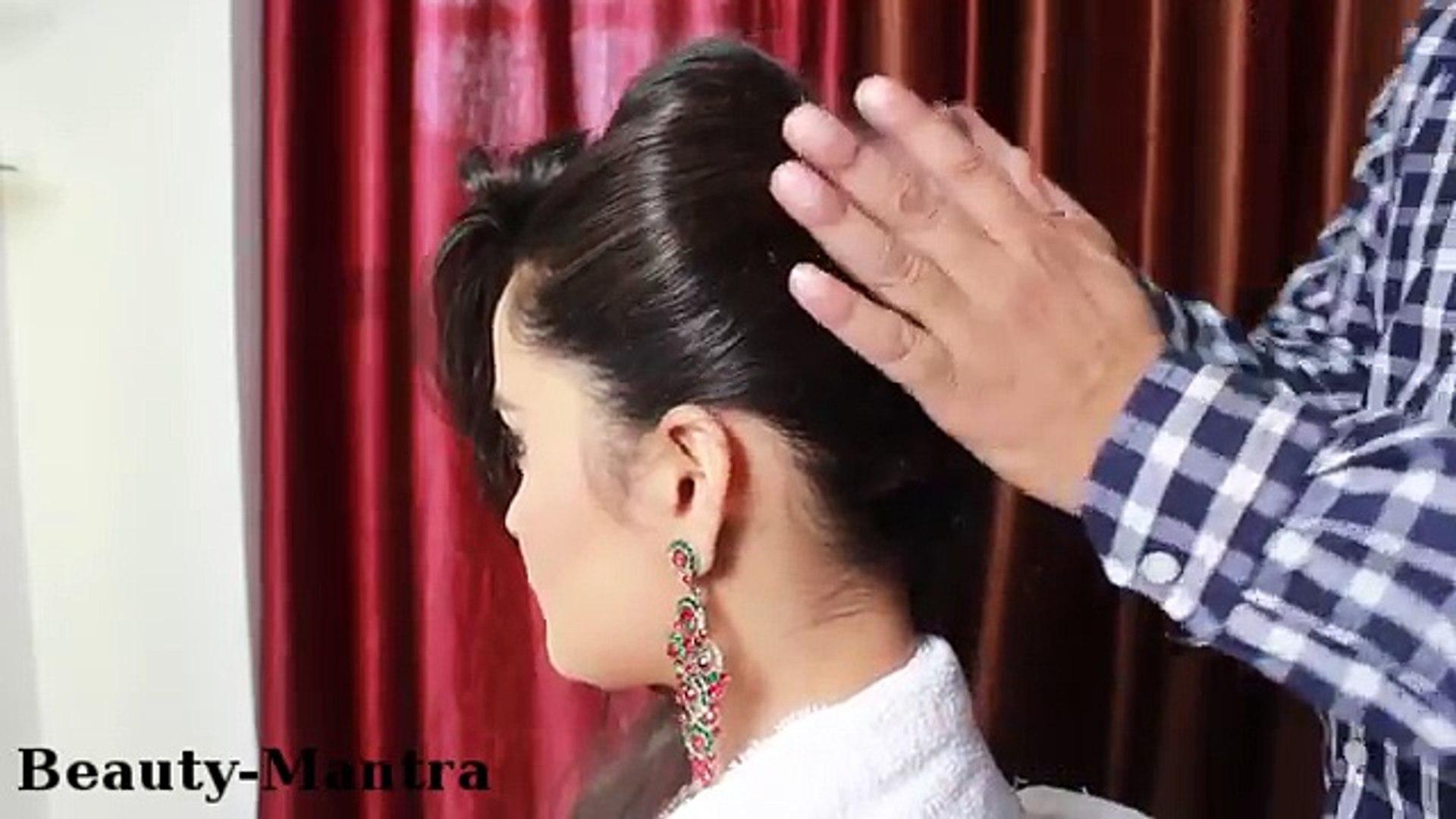 bridal hairstyle - jura with arabic touch (tikka & pasaa)