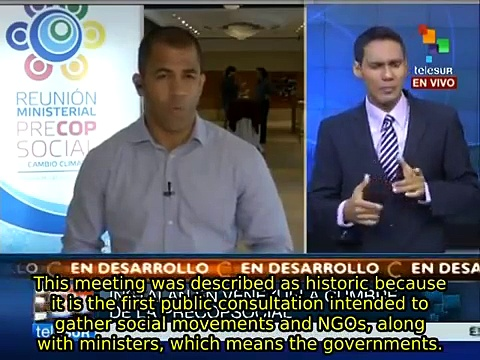 World social organizations meet on climate change