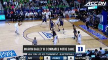 Marvin Bagley Puts Duke On His Back In ACC Tournament Quarterfinal