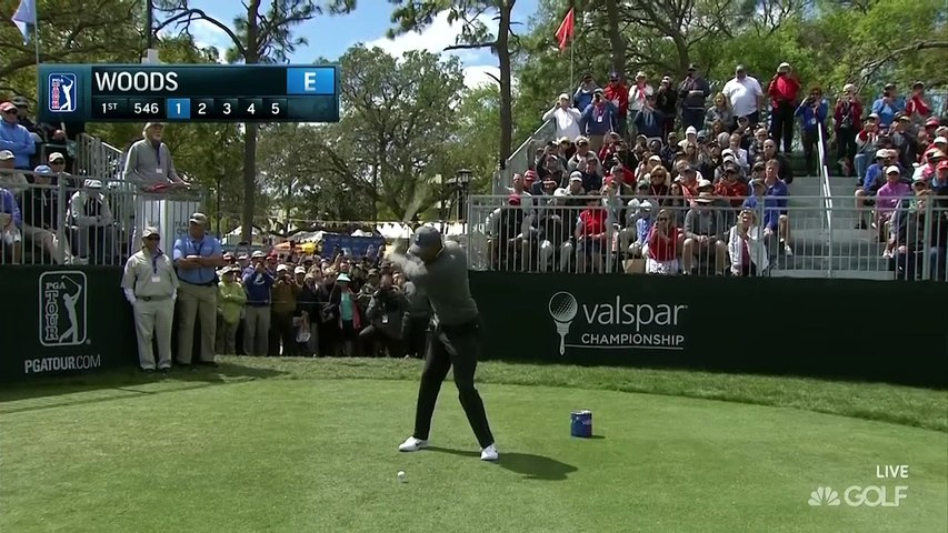 Tiger Woods Shoots -1 in First Round at Valspar