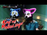 [King of masked singer] 복면가왕 - Dance with wolf, faux-naif red fox -Like rain and music 20150517