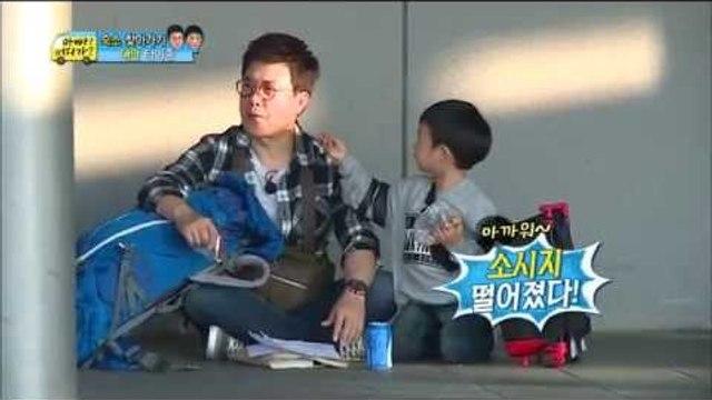 [ENG SUB]Dad!Where are you going? 아빠어디가-Minyul eat like homless@Taiwan 민율 대만여행편 20141214