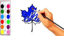 How to Draw Flower With Colored Glitter For Kids   Drawing