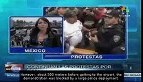 Mexican teachers continue their actions of peaceful civil disobedience