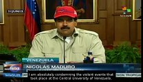 Pres. Maduro condemns Central University of Venezuela's violent events