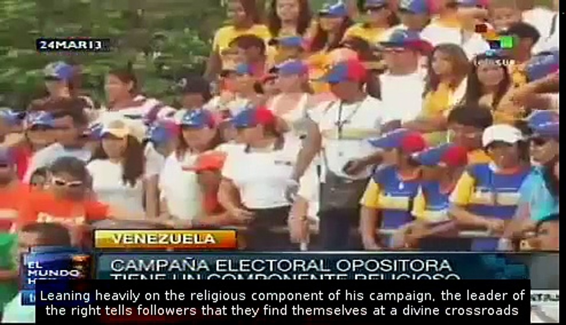Capriles' electoral campaign has religious component