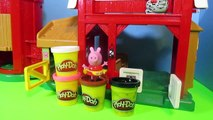 PEPPA PIG [Nickelodeon] Goes To A Farm PLAY-DOH ANIMALS How To Make Play-Doh Animals PARODY