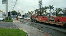 Acidente causou lentidão na BR 101, na Serra, na manhã desta sexta-feira (09)