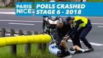 Poels crashed - Étape 6 / Stage 6 - Paris-Nice 2018