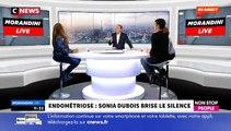 """Endométriose : Le témoignage bouleversant de Sonia Dubois dans """"Morandini Live"""" sur CNEWS et Non Stop People"""