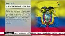 Ecuador pide a Colombia y al ELN reanudar los diálogos de paz