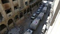 Air Strikes Continue As Aid Convoy Enters Eastern Ghouta