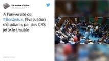 Bordeaux. La fac sous tension après l'évacuation musclée des étudiants par les CRS.