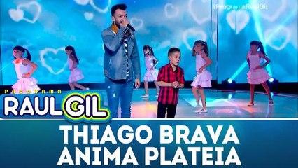 Thiago Brava anima plateia do Raul Gil