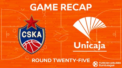 EuroLeague 2017-18 Highlights Regular Season Round 25 video: CSKA 101-76 Unicaja