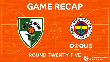 EuroLeague 2017-18 Highlights Regular Season Round 25 video: Zalgiris 78-85 Fenerbahce