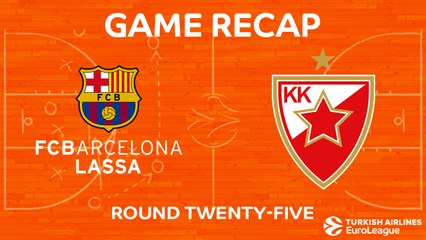 EuroLeague 2017-18 Highlights Regular Season Round 25 video: Barcelona 88-54 Zvezda