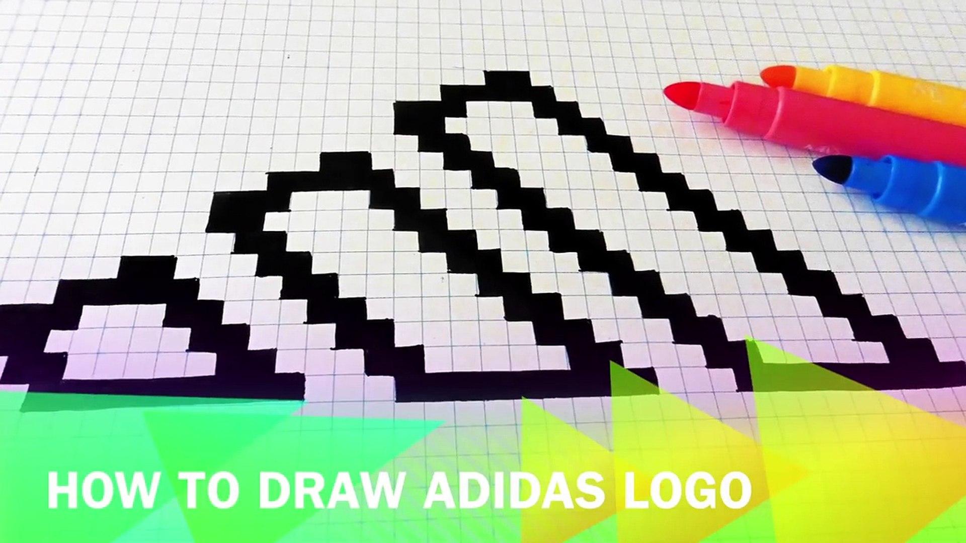 Handmade Pixel Art How To Draw Adidas Logo Pixelart