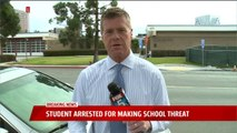 Student Arrested After Allegedly Making Threat Against California High School