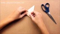 Cómo hacer grulla de papel (origami - papiroflexia)