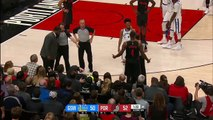 Kevin Durant blows kiss, flashes peace sign at ejected Blazers fan _ ESPN_HD