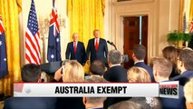 Trump, Turnbull confirm Australia exemption from steel and aluminum tariffs