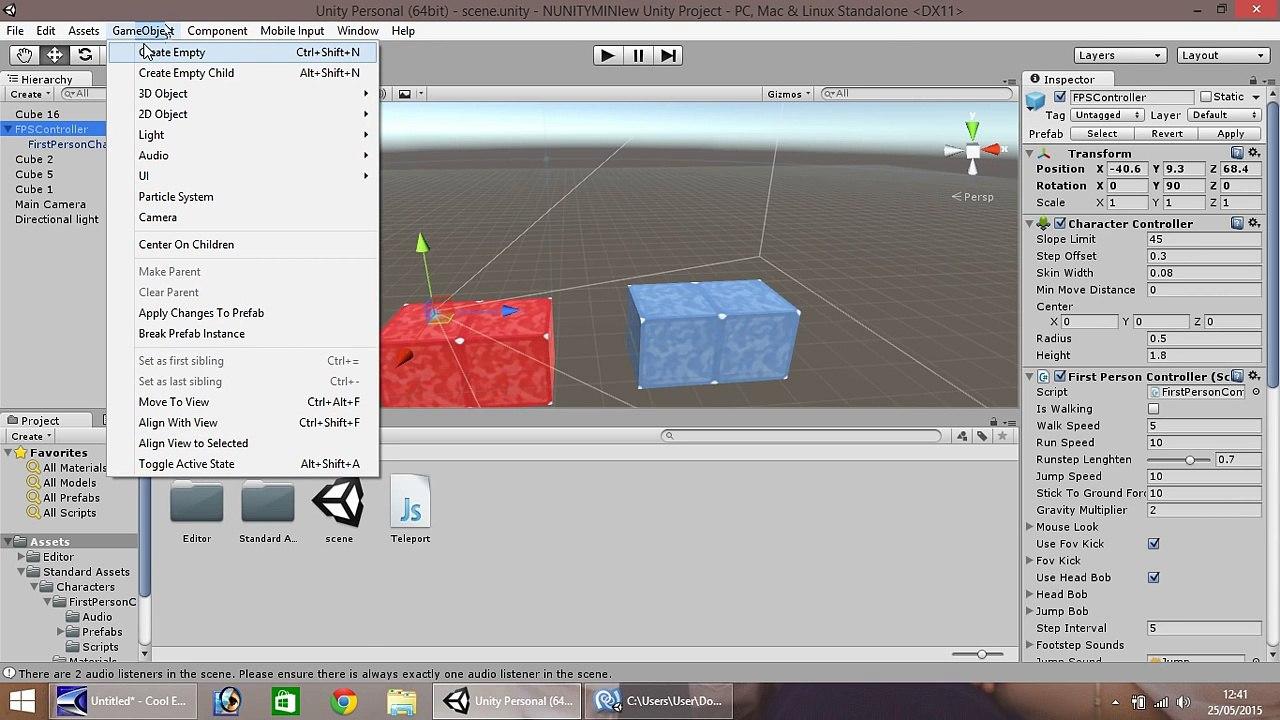 Unity Mini Tutorial - Teleporting Script - Beginner Teleport Tutorial