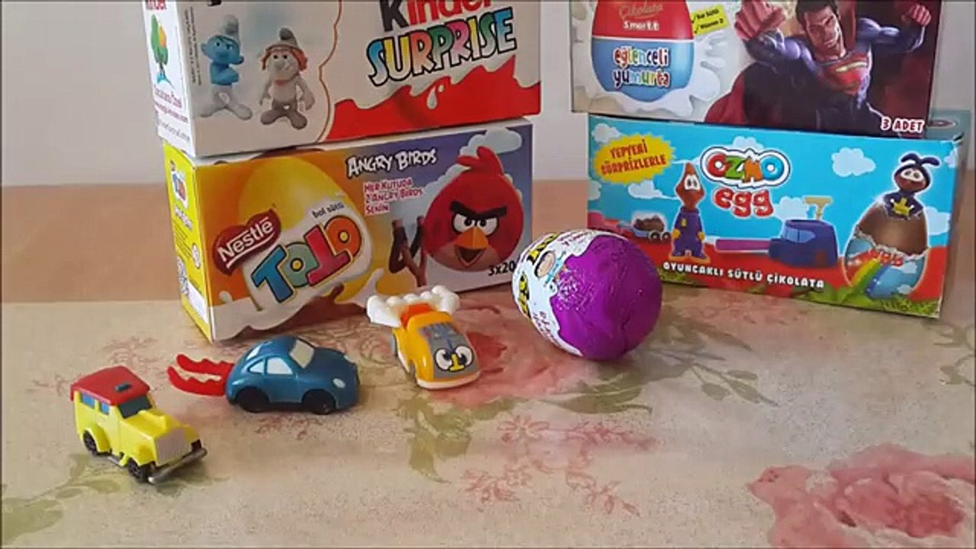 Surprise Eggs Angry Birds Kinder Surprise Toys Kinder киндер сюрприз 1