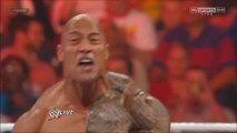 The Rock saves John Cena and gets attacked by CM Punk at 1000th Episode of RAW - 7_23_12
