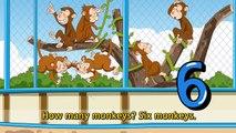 How many bears? Three bears. (Counting Animals/In the zoo) - Kids Education Rap with lyrics