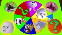 Secret Life of Pets Game - Spin the Wheel, Paw Patrol, Spiderman Surprise Toys Slime
