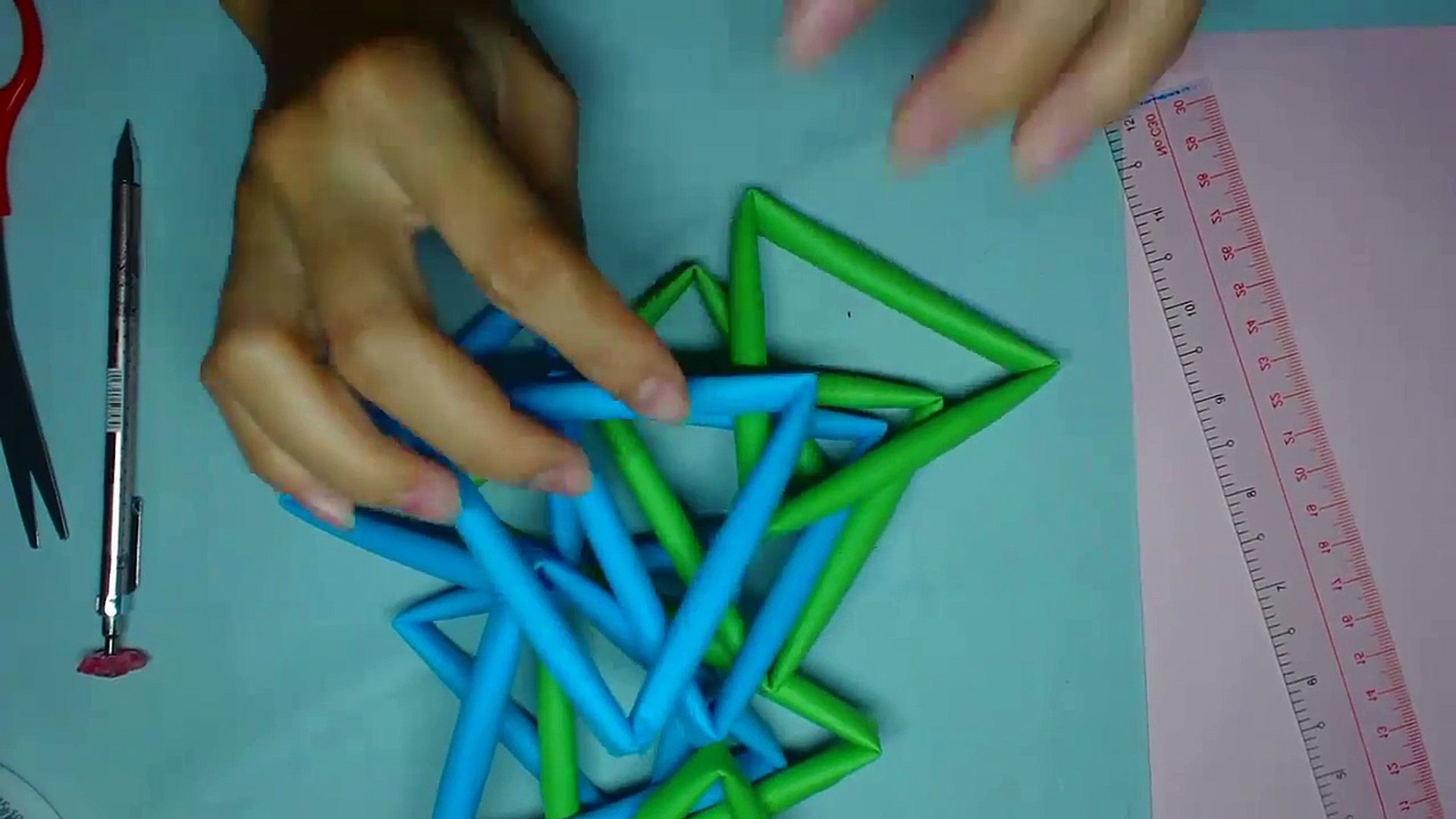 Origami || Pen Holder || EASIEST way possible - YouTube | 1080x1920