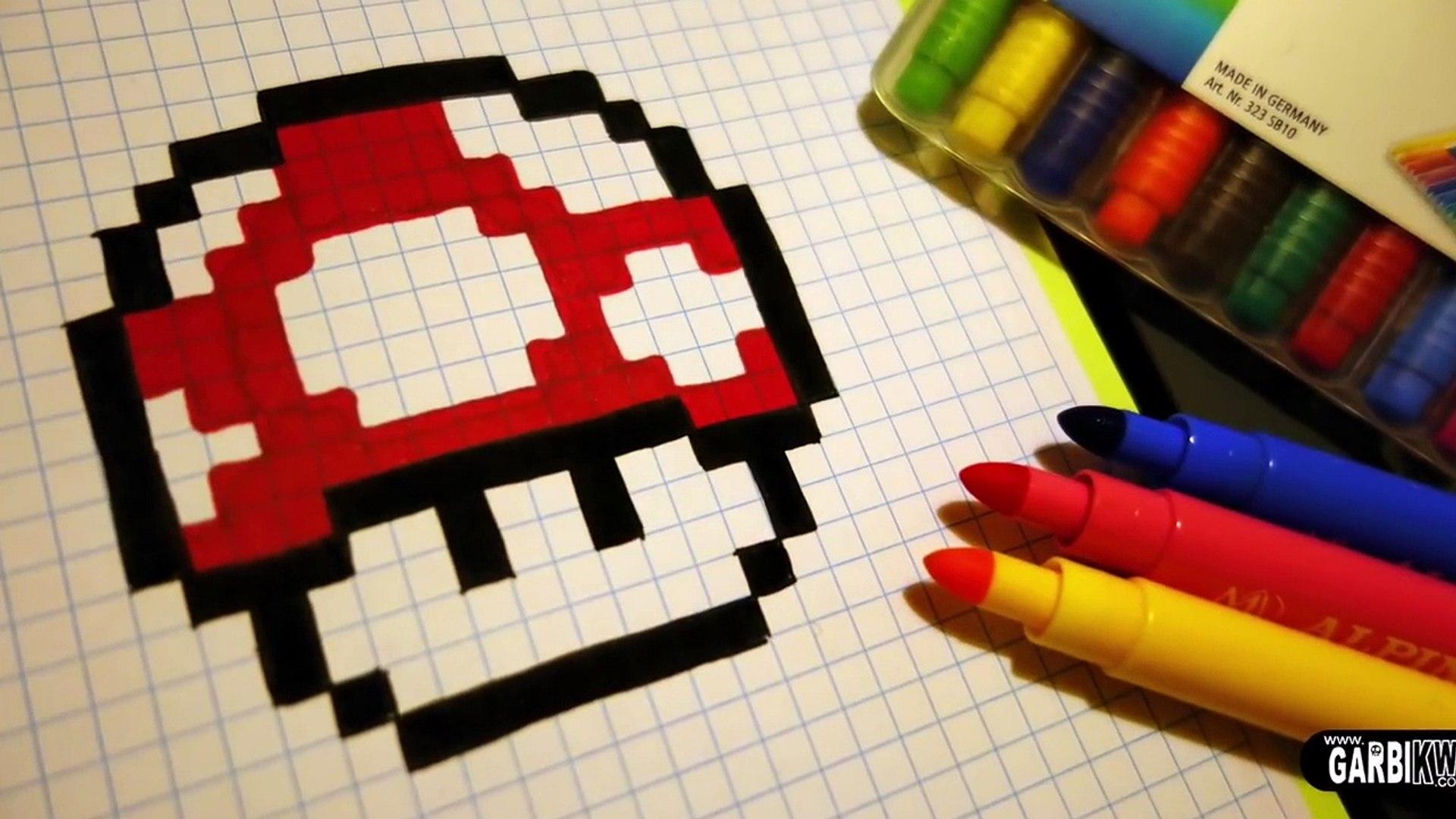 Handmade Pixel Art How To Draw A Mushroom Pixelart